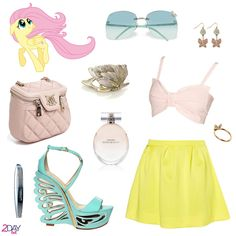 2Daybit - My Little Pony - Fluttershy inspired outfithttp://2daybit.wordpress.com/2014/08/16/fluttershy-outfit-my-little-pony/  #mylittlepony #mlp #fluttershy #moschino #lesilla #gucci