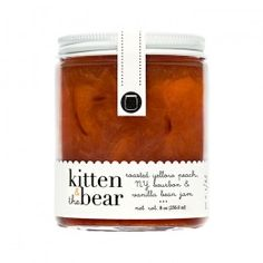 great scallop edge detail and fun fonts in kitten & the bear jam packaging