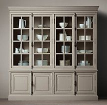 French Casement 4-Door Sideboard & Hutch Love this in taupe...Going to purchase for our anniversary gift.