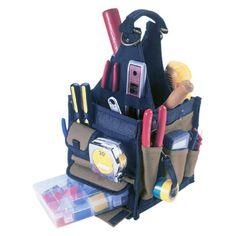 Custom Leathercraft 15 Pocket 16 in. Center Tray Tool Bag - 2754-0640