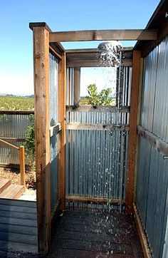 corrugated steel for shower?