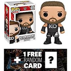 Kevin Owens: Funko POP! WWE x WWE Vinyl Figure + 1 FREE Official WWE Trading Card Bundle (07754)