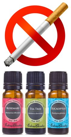 (remove cigarette smoke: put 4 drops each of rosemary, tea tree, & eucalyptus essential oils in a spray bottle with water. shake well & spray...!)