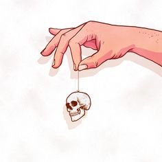 Skulls blown out of proportion on Behance