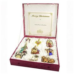 Nativity Glass Ornaments Collection [Limited Edition]