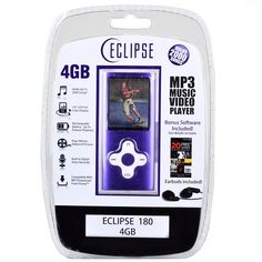 ECLIPSE 180RD 4GB USB 2.0 MP3 PLAYER PURPLE