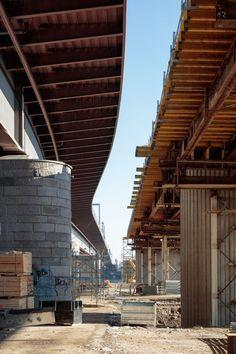 SOLID architecture ZT GmbH - VOEST Donaubrücke A7 Bypassbrücken Linz - Danube A7 Bridges Linz - Foto: Kurt Kuball