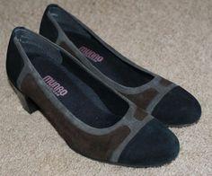 Munro American brown black gray suede like heels shoes womens size 7M #Munro #PumpsClassics #WeartoWork