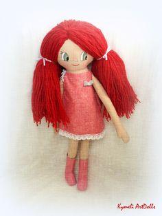 Πορφυρένια -Porfyrenia Doll for Play - by Kymeli Soft Dolls, Doll Clothes, Play, Christmas Ornaments, Holiday Decor, Handmade, Hand Made, Christmas Jewelry, Christmas Decorations