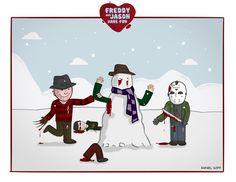 Horror Love  - Freddy & Jason Snowman