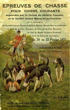 Épreuves de chasse pour chiens courants. 1937