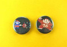 Classic Arcade Game Donkey Kong  Small Pin Back Button Set!
