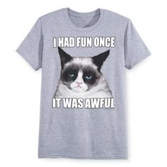 I Had Fun Grumpy Cat T Shirt - Gifts, Clothing, Jewelry, Home Decor and Home Furnishings as Featured in Popular Catalogs | Catalog Favorites