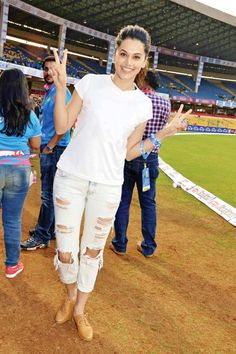 Taapsee Pannu at the #CCL opening match. #Bollywood #Fashion #Style #Beauty #Hot #Cute #Punjabi