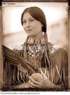 native american dresses | Portrait of Native American Cree Woman [700-00044002]  Stock Photos ...