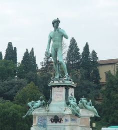 One of the three statues of David in Florence...Piazza Michelangelo... hilltop with a view of the city.