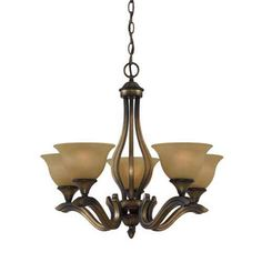 Value Series 230 Platinum Bronze Five-Light Chandelier