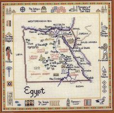 Cross Stitch World: Cross Stitch: Egypt Map