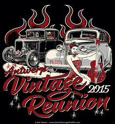 Antwerp Vintage Reunion 2015 T-shirt #Antwerp #vintage #reunion #car #show #event #Tshirt #artwork