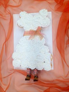 Cupcake Wedding Dress with Cowgirl boots for a Bridal Shower