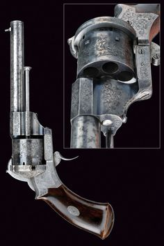 A fine pin-fire revolver,    provenance: France dating:  third quarter of the 19th Century .