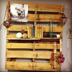 paint a neat color and cover a wall with them. It could be a cool rustic looking room.