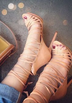 Shoemint Strappy Heels ~ 25 High Fashion Heels on the Street that You Absolutely Must See - Style Estate -