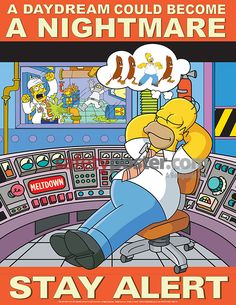 simpsons poster | Simpsons Safety Posters - Mind On Task Simpsons Safety S1164