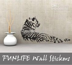 funlife 120x60cm48x24inRemovível Da Parede Do Vinil Adesivos Animal Tigre Meus Adesivos De Parede Decal Mural Do Reino
