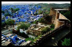 View of the Blue City from Mehrangarh Fort, Jodhpur, India, by photosbymartin.com