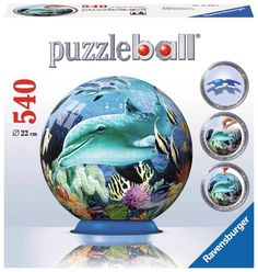 NEW 3D Jigsaw Puzzle Puzzleball 540 Piece Ravensburger UNDERWATER WORLD Age 12+ #Ravensburger