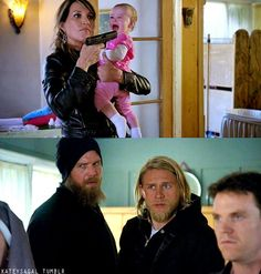 I like the fact they are actually surprised that Gemma would pull a gun on a baby to protect her family