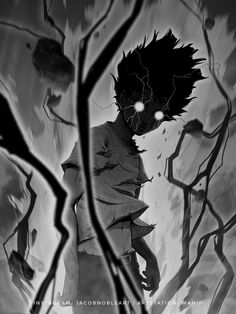 anime fanart Heres another % Mob with the original thumbnail. Dark Anime, Dark Fantasy Art, Anime Fantasy, Arte Horror, Horror Art, Fantasy Character Design, Character Art, Mob Psycho 100 Wallpaper, Mob Psycho 100 Anime