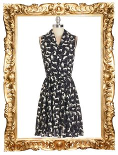 Hither and Yarn Cat Print Dress - $39.99 (50% off in the Black Friday sale!)