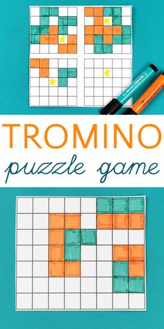 Trominoes: Mathematical Puzzles for Kids Trominoes: Mathematical Puzzles for Kids,Science/STEM/STEAM Trominoes is a fun pen and paper game that also functions as a mathematical brain teaser puzzle for kids. Brain Teaser Games, Brain Teaser Puzzles, Fun Activities For Kids, Science For Kids, Kids Fun, Preschool Activities, Fun Math, Math Games, Printable Puzzles For Kids