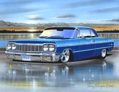 1964 Chevrolet Impala SS print poster by Parry Johnson