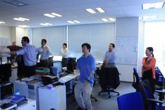 Our Tokyo office have a Firemans Exercise class in the office #japan