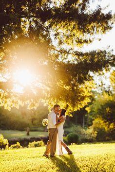 Rustic Style Wedding Couple