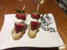 Fresas con queso