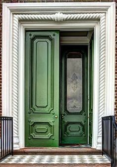 Painted Doors, Wooden Doors, Prince Caspian, Curb Appeal, Entrance, Exterior, Architecture, Classic, Places