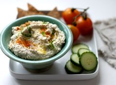 Raw Nut Pulp Hummus: I made this from leftover nut pulp I used to make nut milk for a nut milk ice cream. It is absolutely fantastic.
