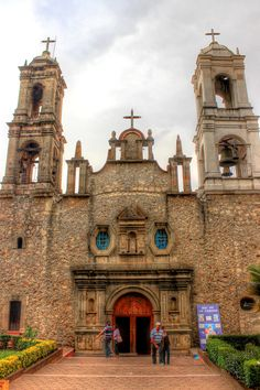 The chapel of the town of Villa del Carbon in Mexico.