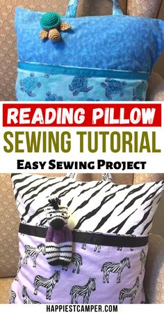 Looking for an easy sewing project to make for your kids? Learn how to make these absolutely ADORABLE reading pillows with our step-by-step tutorial. How To Sew A Reading Pillow. Reading Pillow Sewing Tutorial - Easy Sewing Project. #EasySewingProjectsForBeginners #HowToSewAReadingPillow Baby Sewing Projects, Sewing Projects For Beginners, Sewing For Kids, Projects For Kids, Sewing Hacks, Sewing Tutorials, Craft Projects, Sewing Pillows, Diy Pillows