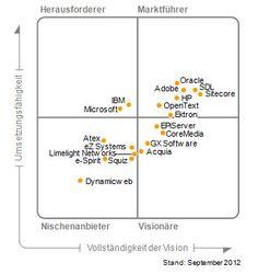 Magic Quadrant for Web Content Management - gartner  Stärken und Schwächen der Anbieter