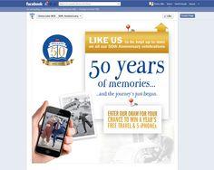 Social media 50 years of Memories Facebook campaign.