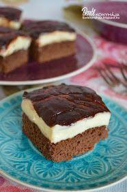 Barbi konyhája: Vaníliakrémes kakaós kocka - liszt és cukormentes!