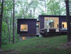 casa de diseño interesante e interior minimalista