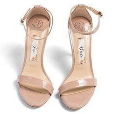 c606d98b9419 Wedding Shoes Ankle Strap High Heel - Samantha Champagne