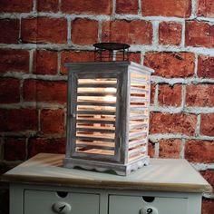 Elektrická lucerna dřevěná 37cm