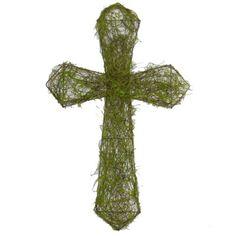 "Moss Twig Cross Color: Green Size: 14"" width; 22"" Ht  Arriving soon!"